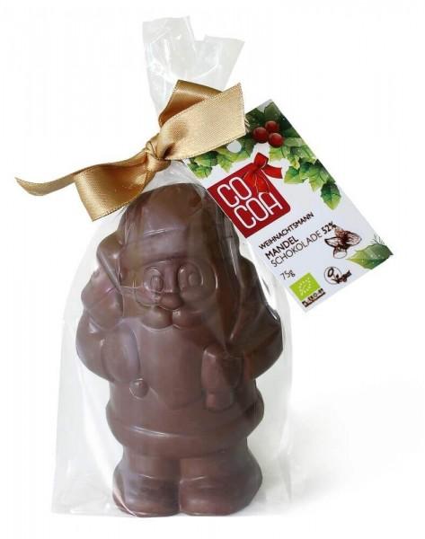 Weihnachtsmann Mandelschokolade COCOA Bio