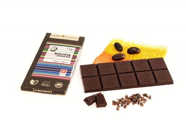 Bolivien Bean-to-Bar Schokolade Naturkostbar