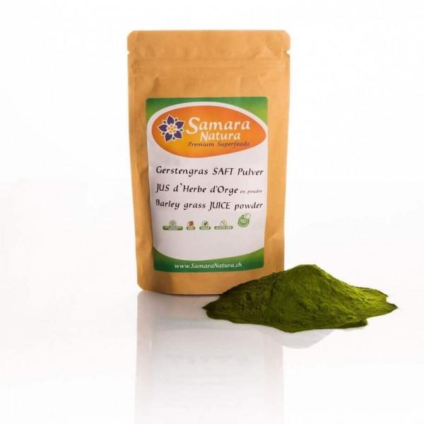 Gerstengrassaft-Pulver Bio mit Beutel