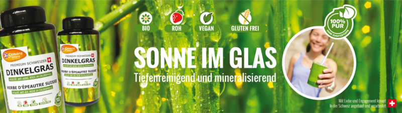 Bio Dinkelgras Pulver Schweizer Premiumqualität 50g