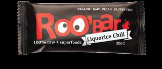 ROO'BAR Chili & Lakritze, Bio-Rohkost-Energie-Riegel 50g
