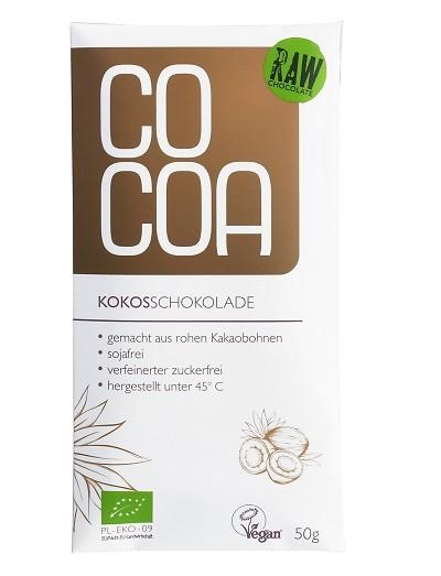 COCOA Bio-Rohkost-Schokolade Kokos