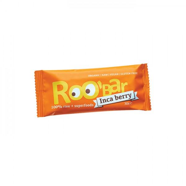 ROO'BAR Inka-Beeren & Orange, Bio-Rohkost-Energie-Riegel 50g