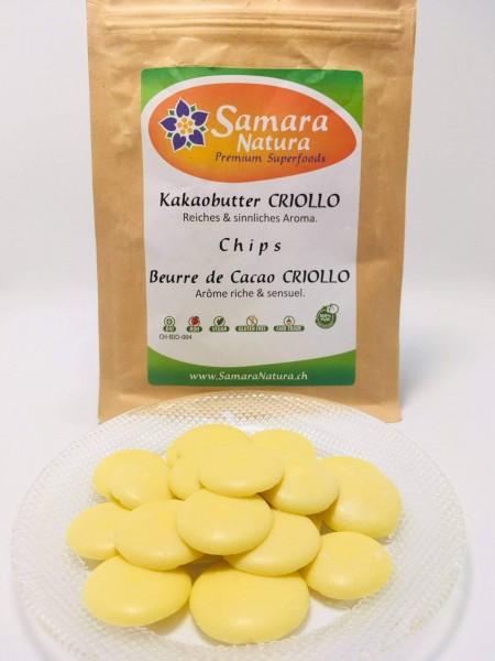 Bio Kakaobutter Criollo Chips
