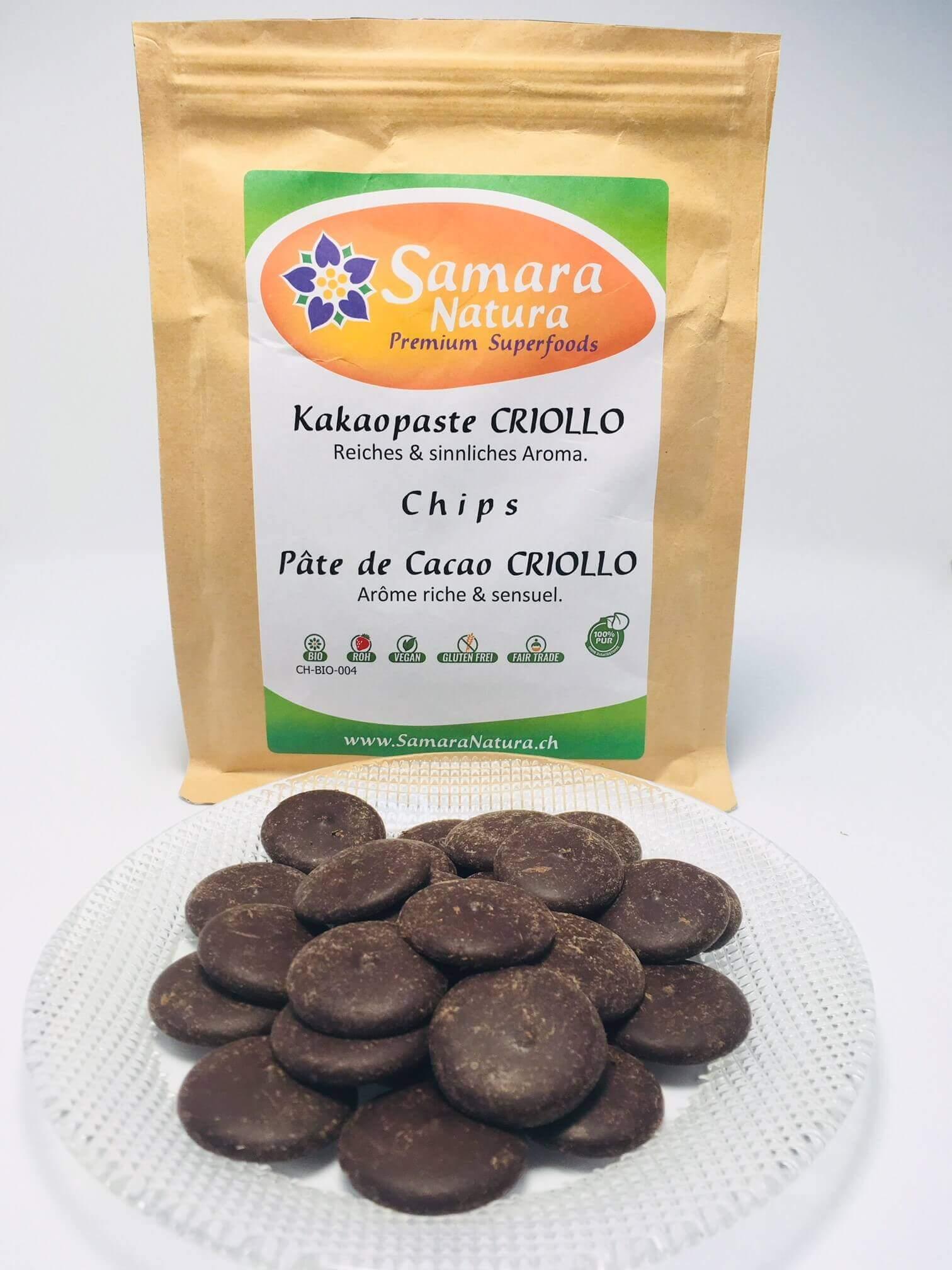 Kakaopaste Criollo Chips Bio