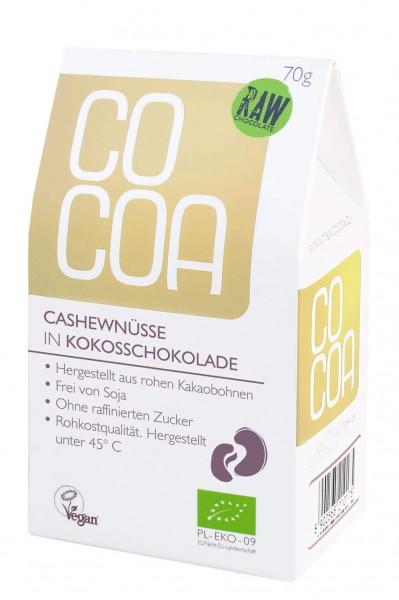 Cashewnüsse in Kokosschokolade