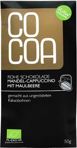 COCOA Bio-Rohkost-Schokolade Mandel-Cappuccino mit Maulbeere